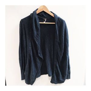 Free People navy blue cardigan sweater small